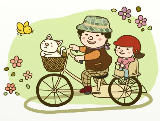自転車に乗ってどこまでも♪