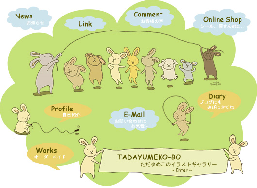 うさぎさんの大縄跳びイラストでイメージマップを☆