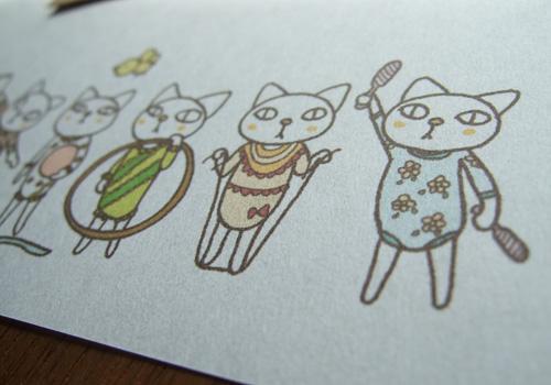 温かみのある素敵な紙質に、かわいいイラストをプリント☆
