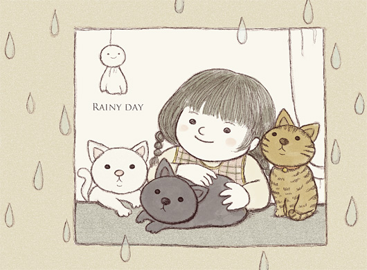 雨音を聞きながら...