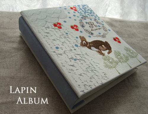 かわいいうさぎの刺繍が入った素敵なフォトアルバムです☆